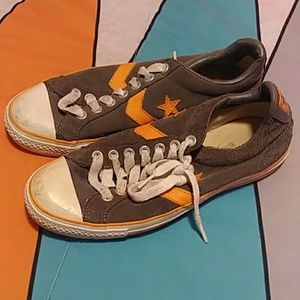 Converse suede one stars gray and orange